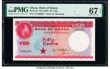 Ghana Bank of Ghana 50 Cedis ND (1965) Pick 8a PMG Superb Gem Unc 67 EPQ.   HID09801242017  © 2020 Heritage Auctions | All Rights Reserve