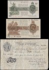 Bank of England & Treasury (3) a collectible and interesting group of notes comprising examples of Treasury Warren Fisher First issue 1919 (2) consist...