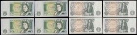 Bank of England (10) a good selection of 1 Pounds in mostly higher grades in EF to about UNC comprising a Fforde QE2 portrait B301 issue 1967 a LAST s...