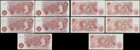 Bank of England (17) a selection of 10 Shillings and 1 Pounds QE2 portrait & seated Britannia issues from various cashiers in mixed circulated grades ...