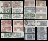 Bank of England (18) Accumulation of various denomination examples from the Britannia medallion and QE2 portrait designs circa pre and during World Wa...