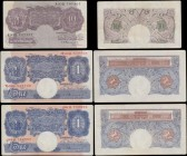 Bank of England (6) a selection of examples from the various Peppiatt periods in mixed circulated but presentable grades VF-EF and consisting of a Fir...