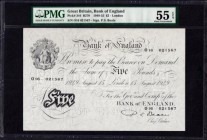 Five Pounds Beale White note B270 Thin paper Metal thread dated 15th August 1949 serial number 016 021567 London branch. PMG ...
