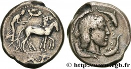 SICILY - SYRACUSE Type : Tétradrachme  Date : c. 470-466 AC.  Mint name / Town : Syracuse  Metal : silver  Diameter : 26,5  mm Orientation dies : 7  h...