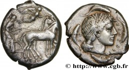 SICILY - SYRACUSE Type : Tétradrachme  Date : c. 450-440 AC.  Mint name / Town : Syracuse  Metal : silver  Diameter : 26,5  mm Orientation dies : 9  h...