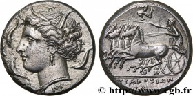 SICILY - SYRACUSE Type : Tétradrachme  Date : c. 310-305 AC.  Mint name / Town : Syracuse  Metal : silver  Diameter : 25  mm Orientation dies : 7  h. ...