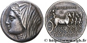 SICILY - SYRACUSE Type : Seize litrai  Date : c. 240-216 AC.  Mint name / Town : Syracuse, Sicile  Metal : silver  Diameter : 27  mm Orientation dies ...