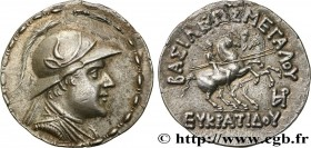 BACTRIA - BACTRIAN KINGDOM - EUCRATIDES I Type : Tétradrachme  Date : c. 150 AC.  Mint name / Town : atelier incertain  Metal : silver  Diameter : 33 ...