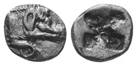 DYNASTS of LYCIA. Uncertain. Circa 520-480 BC. AR , diobol RARE!  Condition: Very Fine  Weight: 1.40 gr Diameter: 12 mm