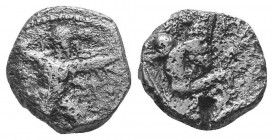 Cyprus, Kition AR Tetraobol. Baalmelek II, circa 425-400 BC.  Condition: Very Fine  Weight: 3.30 gr Diameter: 13 mm
