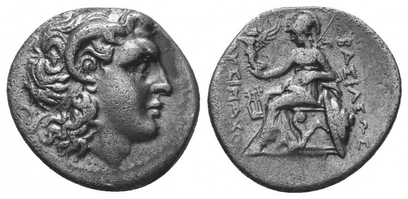 Lysimachus (323-281 BC). AR drachm. 297-282 BC. Head of the deified Alexander th...