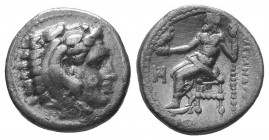 Kings of Macedon. Alexander III 'the Great' (336-323 BC). AR Drachm  Condition: Very Fine  Weight: 4.00 gr Diameter: 16 mm