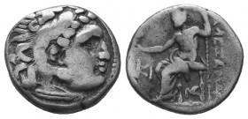 Kings of Macedon. Alexander III 'the Great' (336-323 BC). AR Drachm  Condition: Very Fine  Weight: 4.30 gr Diameter: 16 mm