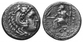 Kings of Macedon. Alexander III 'the Great' (336-323 BC). AR Drachm  Condition: Very Fine  Weight: 3.90 gr Diameter: 16 mm