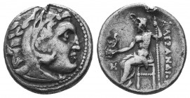 Kings of Macedon. Alexander III 'the Great' (336-323 BC). AR Drachm  Condition: Very Fine  Weight: 3.20 gr Diameter: 17 mm