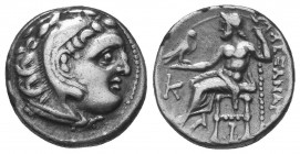 Kings of Macedon. Alexander III 'the Great' (336-323 BC). AR Drachm  Condition: Very Fine  Weight: 4.20 gr Diameter: 17 mm
