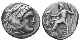 Kings of Macedon. Alexander III 'the Great' (336-323 BC). AR Drachm  Condition: Very Fine  Weight: 4.00 gr Diameter: 17 mm