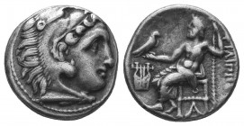 Kings of Macedon. Alexander III 'the Great' (336-323 BC). AR Drachm  Condition: Very Fine  Weight: 4.20 gr Diameter: 16 mm