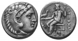 Kings of Macedon. Alexander III 'the Great' (336-323 BC). AR Drachm  Condition: Very Fine  Weight: 4.10 gr Diameter: 16 mm