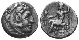 Kings of Macedon. Alexander III 'the Great' (336-323 BC). AR Drachm  Condition: Very Fine  Weight: 3.90 gr Diameter: 18 mm