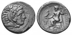 Kings of Macedon. Alexander III 'the Great' (336-323 BC). AR Drachm  Condition: Very Fine  Weight: 3.70 gr Diameter: 18 mm