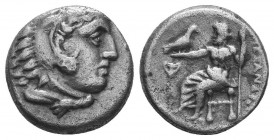 Kings of Macedon. Alexander III 'the Great' (336-323 BC). AR Drachm  Condition: Very Fine  Weight: 4.10 gr Diameter: 15 mm