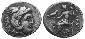 Kings of Macedon. Alexander III 'the Great' (336-323 BC). AR Drachm  Condition: Very Fine  Weight: 4.20 gr Diameter: 19 mm