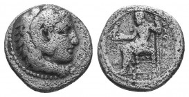 Kings of Macedon. Alexander III 'the Great' (336-323 BC). AR Tetraobol  Condition: Very Fine  Weight: 1.90 gr Diameter: 13 mm