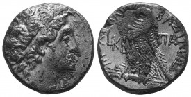 Ptolemaic Kings of Egypt. (107-101 BC). AR Tetradrachm Alexandreia. Obv. Diademed bust of Ptolemy I to right, wearing aegis. Rev. ΠΤΟΛΕΜΑΙΟΥ ΒΑΣΙΛΕΩΣ,...