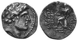 SELEUKID KINGS of SYRIA. Alexander I (Balas). 152/1-145 BC. AR Drachm  Condition: Very Fine  Weight: 3.80 gr Diameter: 17 mm