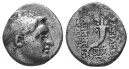 SELEUKID KINGS of SYRIA. Demetrios I Soter. 162-150 BC. AR Drachm  Condition: Very Fine  Weight: 4.00 gr Diameter: 16 mm