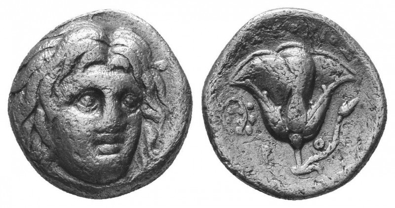 Rhodos, Rhodes AR Drachm. Circa 205-190 BC.  Condition: Very Fine  Weight: 3.20 ...