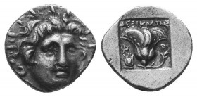 Rhodos, Rhodes AR Hemidrachm. Circa 205-190 BC.  Condition: Very Fine  Weight: 1.40 gr Diameter: 12 mm