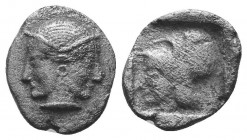 ASIA MINOR, Greek Obols. 5th - 3rd century BC. AR   Condition: Very Fine  Weight: 1.10 gr Diameter: 12 mm