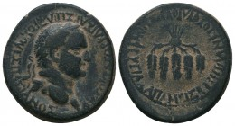 Phrygia, Apameia. Vespasian. A.D. 69-79. AE  Condition: Very Fine  Weight: 9.70 gr Diameter: 25 mm
