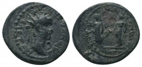 LYDIA, Magnesia ad Sipylum. Gaius (Caligula), with Germanicus and Agrippina Senior. AD 37-41. Æ