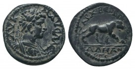 LYDIA, Stratonicaea-Hadrianopolis. Caracalla, AD 198-217. Æ   Condition: Very Fine  Weight: 3.20 gr Diameter: 16 mm