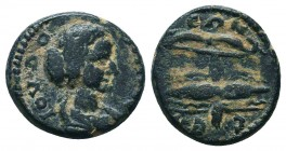 Pisidia. Selge . Julia Domna, wife of Septimius Severus AD 193-217. Ae  Condition: Very Fine  Weight: 4.80 gr Diameter: 17 mm