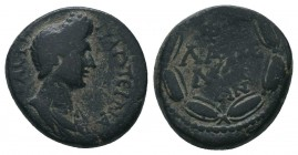 LAKONIA. Lakedaimon (Sparta). Plotina, wife of Trajan (Augusta, AD 98-117).  Condition: Very Fine  Weight: 7.20 gr Diameter: 18 mm
