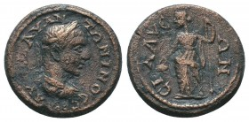 Sillyon in Pamphylia.. Elagabalus (218-222). AE