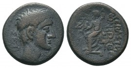 LYDIA. Augustus, (27 BC-AD 14). Ae.  Condition: Very Fine  Weight: 5.40 gr Diameter: 19 mm