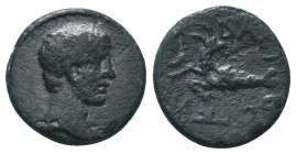 LYDIA. Augustus, (27 BC-AD 14). Ae.  Condition: Very Fine  Weight: 3.20 gr Diameter: 16 mm