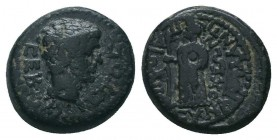 CARIA. Antioch. Time of Augustus to Tiberius (27 BC-37 AD). Ae.  Condition: Very Fine  Weight: 3.00 gr Diameter: 15 mm