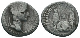 Augustus AR , Denarius. Lugdunum, 7-6 BC.  Condition: Very Fine  Weight: 3.40 gr Diameter: 17 mm