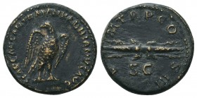 Hadrian, 117-138, AE  Condition: Very Fine  Weight: 3.70 gr Diameter: 18 mm