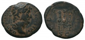 Hadrian, 117-138, AE  Condition: Very Fine  Weight: 3.30 gr Diameter: 18 mm