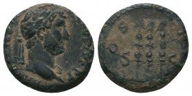 Hadrian, 117-138, AE  Condition: Very Fine  Weight: 3.30 gr Diameter: 16 mm