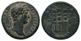 Hadrian, 117-138, AE  Condition: Very Fine  Weight: 3.80 gr Diameter: 17 mm