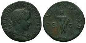 Gordian III Æ Sestertius. Rome, AD 238-239.  Condition: Very Fine  Weight: 10.80 gr Diameter: 30 mm