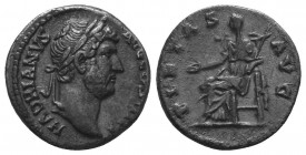 Hadrianus (117-138 AD). AR Denarius  Condition: Very Fine  Weight: 3.40 gr Diameter: 17 mm